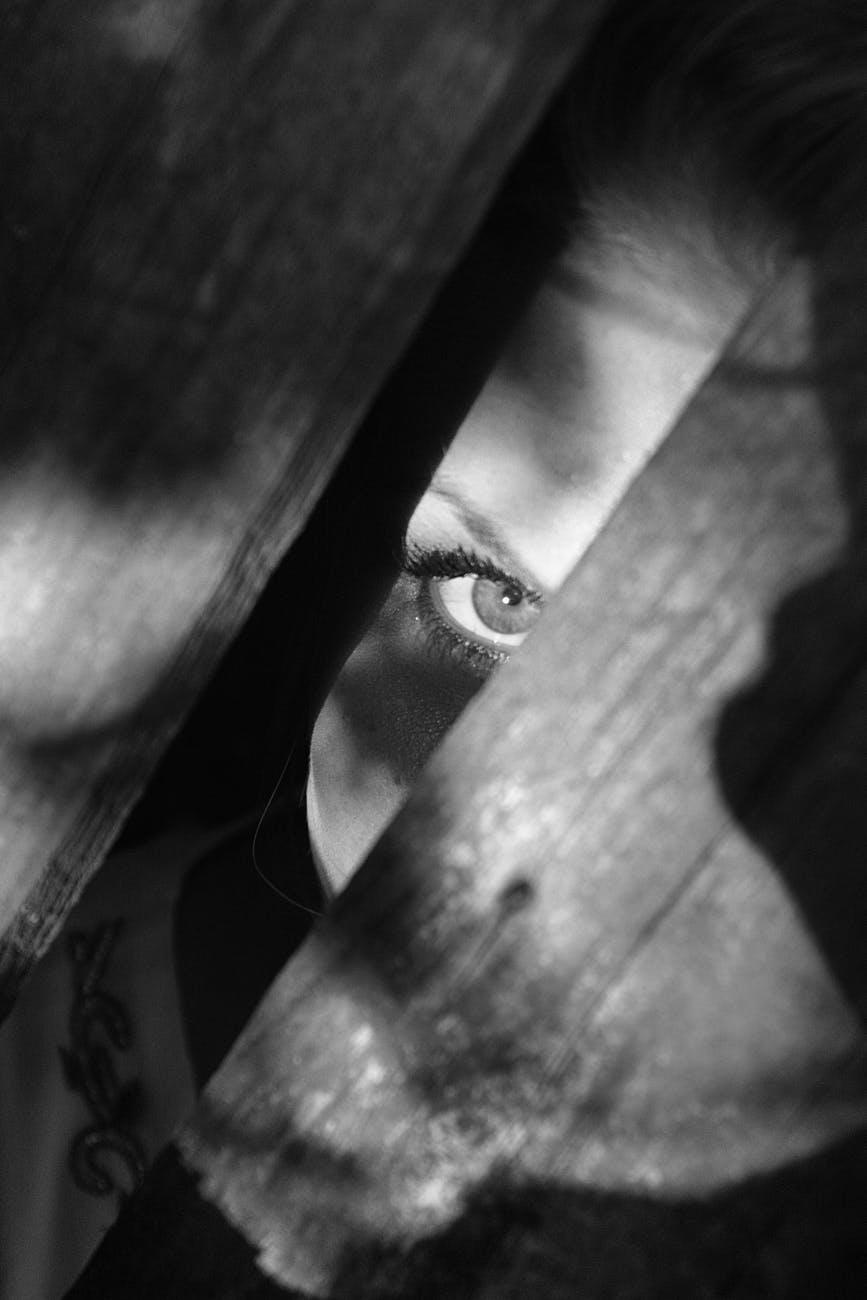 woman dark eye spooky
